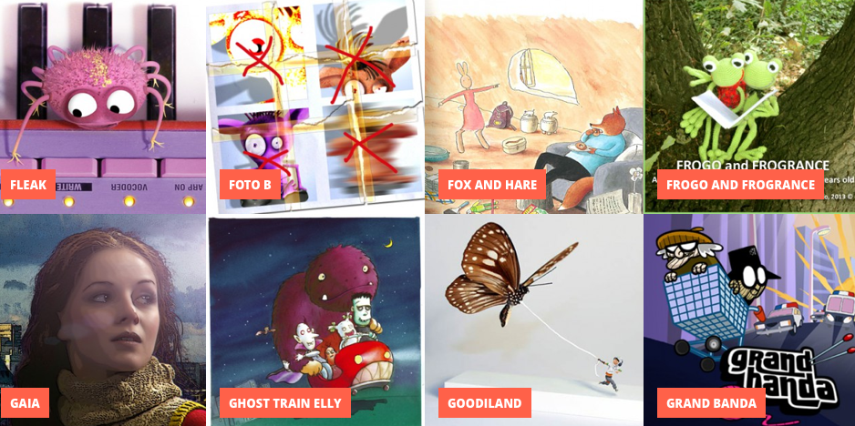 Selection of projects for Cartoon Forum 2014