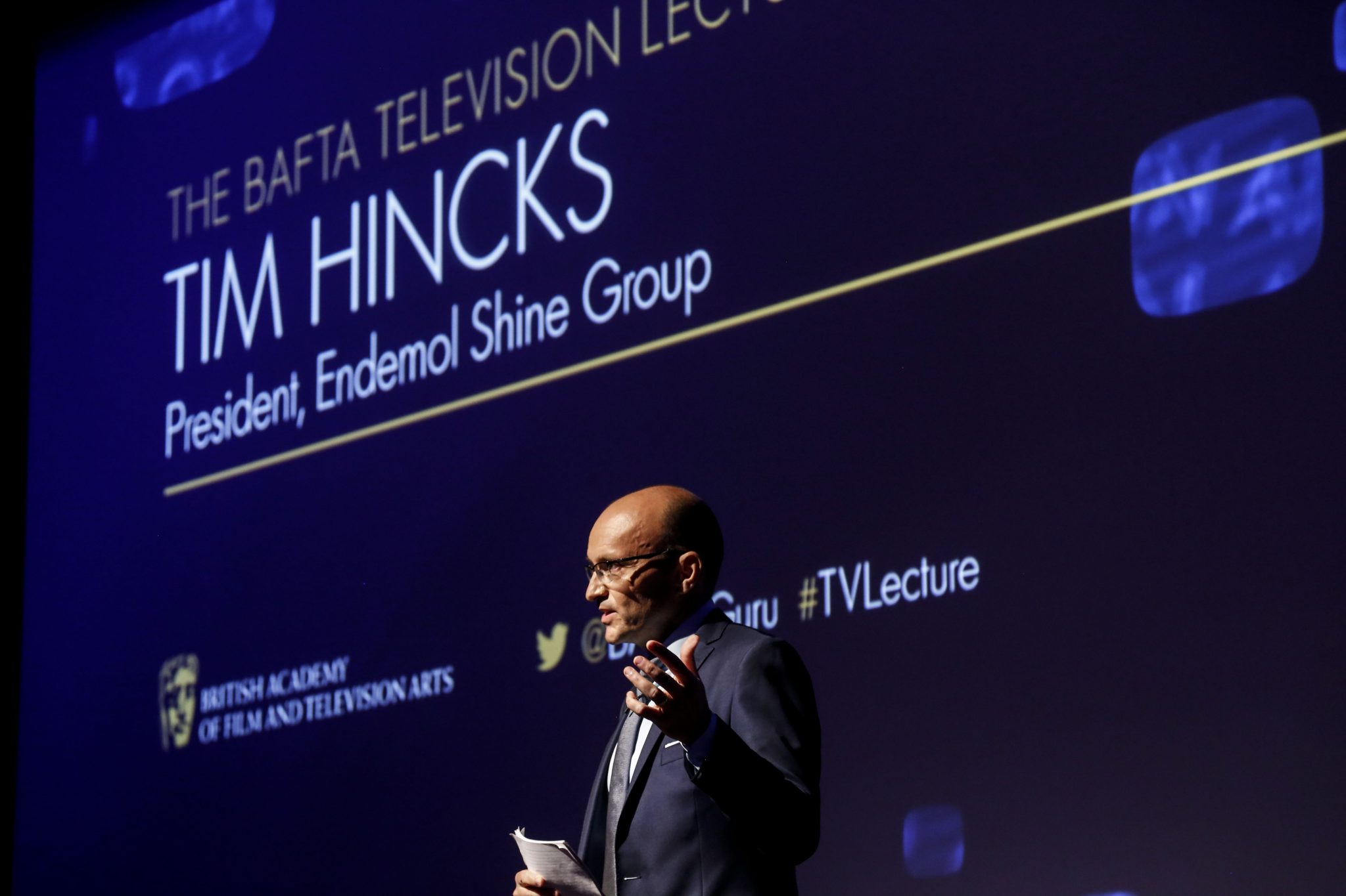 Event: Annual Television Lecture given by Tim Hincks Date: Tuesday 30 June, 2015 Venue: BAFTA, 195 Piccadilly Host: Steve Hewlett