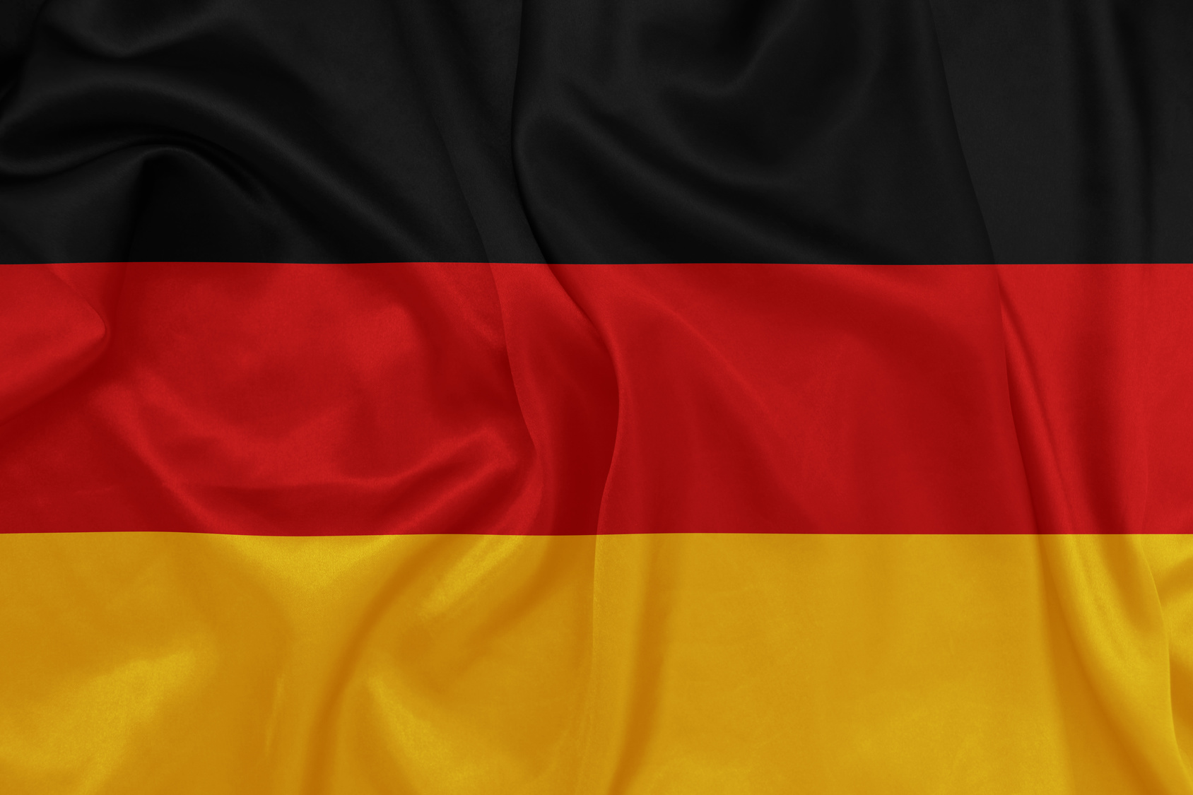 Germany - Waving national flag on silk texture
