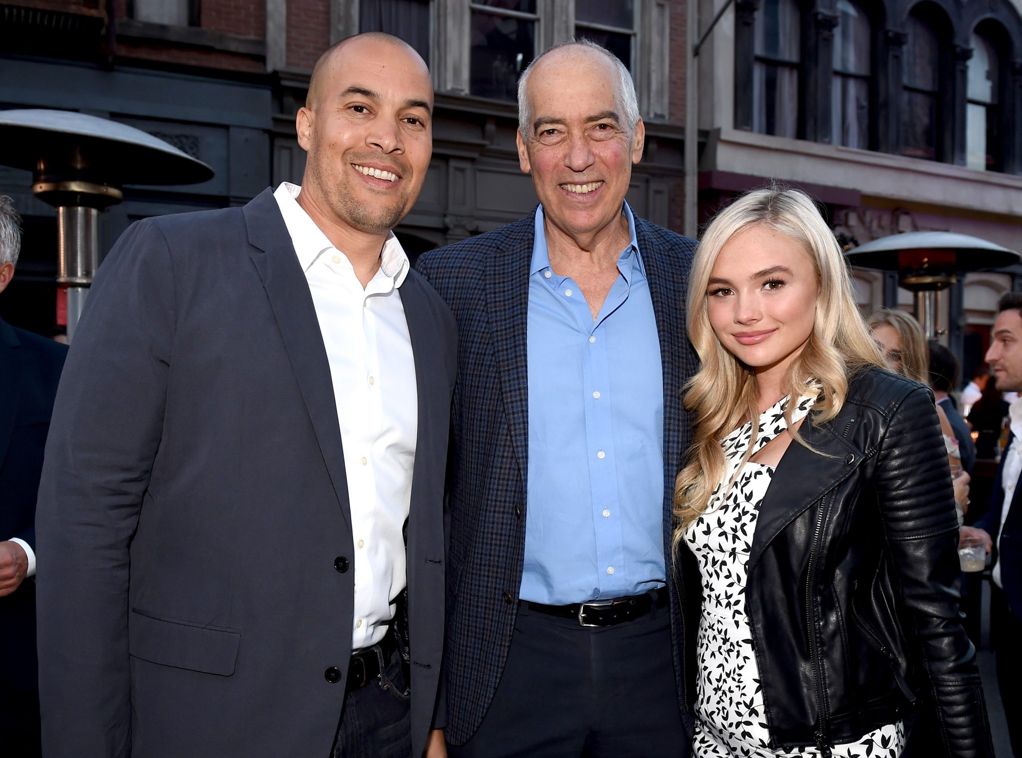 (L-R) Coby Bell (The Gift); Fox Television Group chairman and CEO Gary Newman; and Natalie Alyn Lind (The Gifted) attend the Twentieth Century Fox Television Los Angeles Screening Gala at the Fox Studio lot on May 25, 2017 (Photo by Frank Micelotta/Fox/PictureGroup)