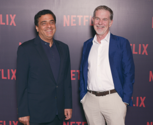Ronnie Screwvala and Reed Hastings