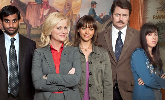 Amy Poehler (left) in Parks & Recreation