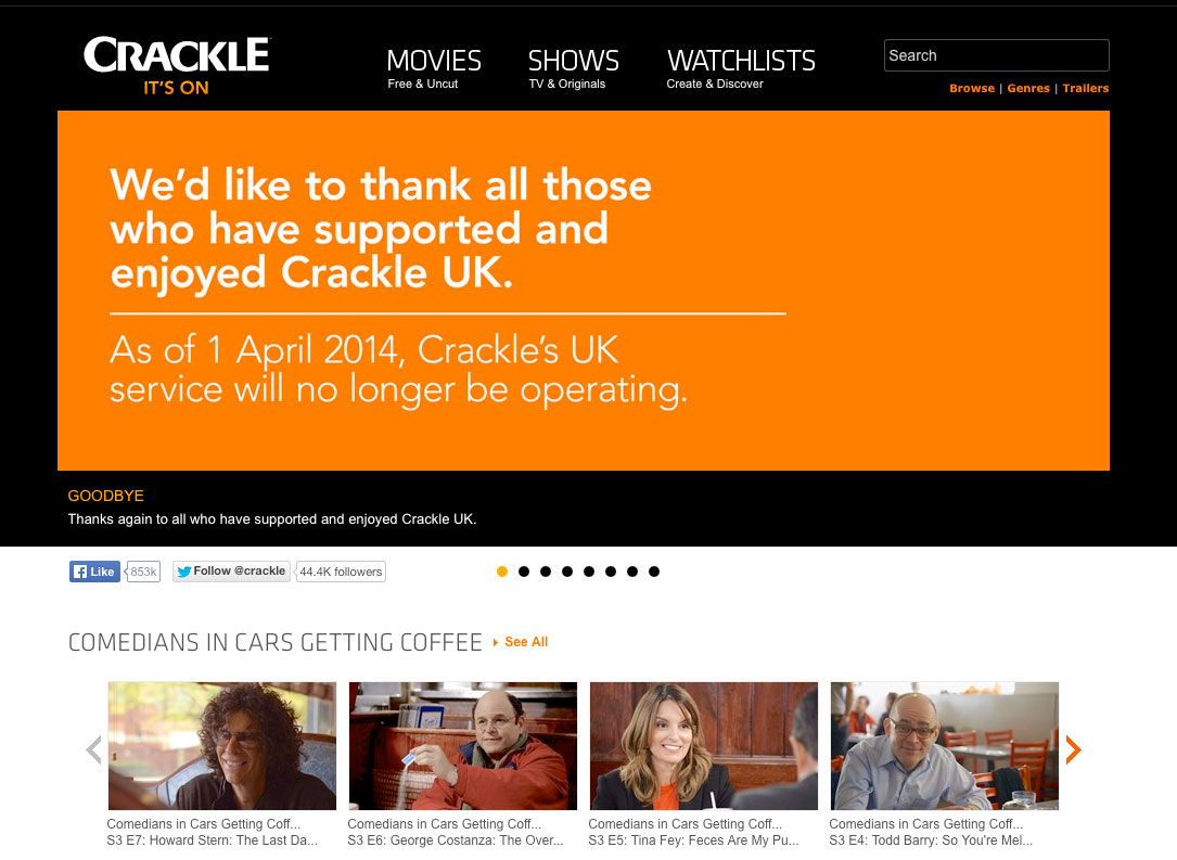Sony closing Crackle streaming service in the UK – TBI Vision