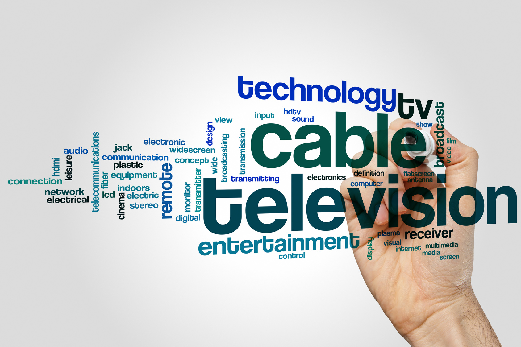 Cable television word cloud