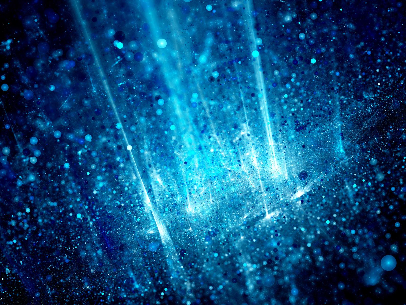 Blue glowing big data