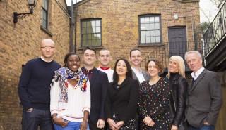 The Expectation team (L-R Tim Hincks, Ros Owino, Nick Mather, Charlie Jones, Sou Pang, Nick Samwell-Smith, Nerys Evans, Kellie Turner, Peter Fincham)