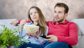 Millennials watching TV