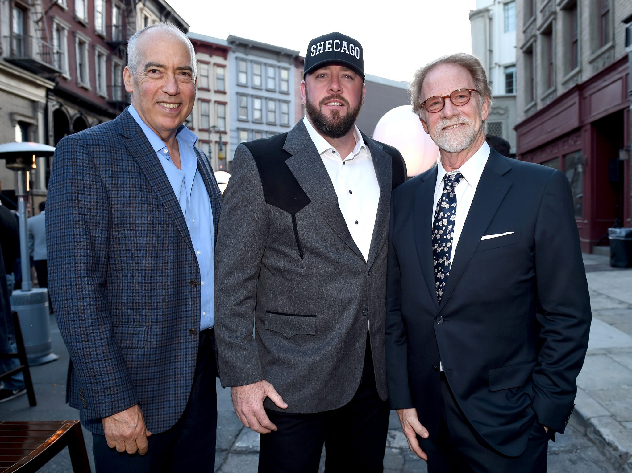 (L-R) Fox Television Group chairman and CEO Gary Newman; actor Chris Sullivan; 20th Century Fox Television Distribution president Mark Kaner attend the Twentieth Century Fox Television Los Angeles Screening Gala at the Fox Studio lot on May 25, 2017 (Photo by Frank Micelotta/Fox/PictureGroup)