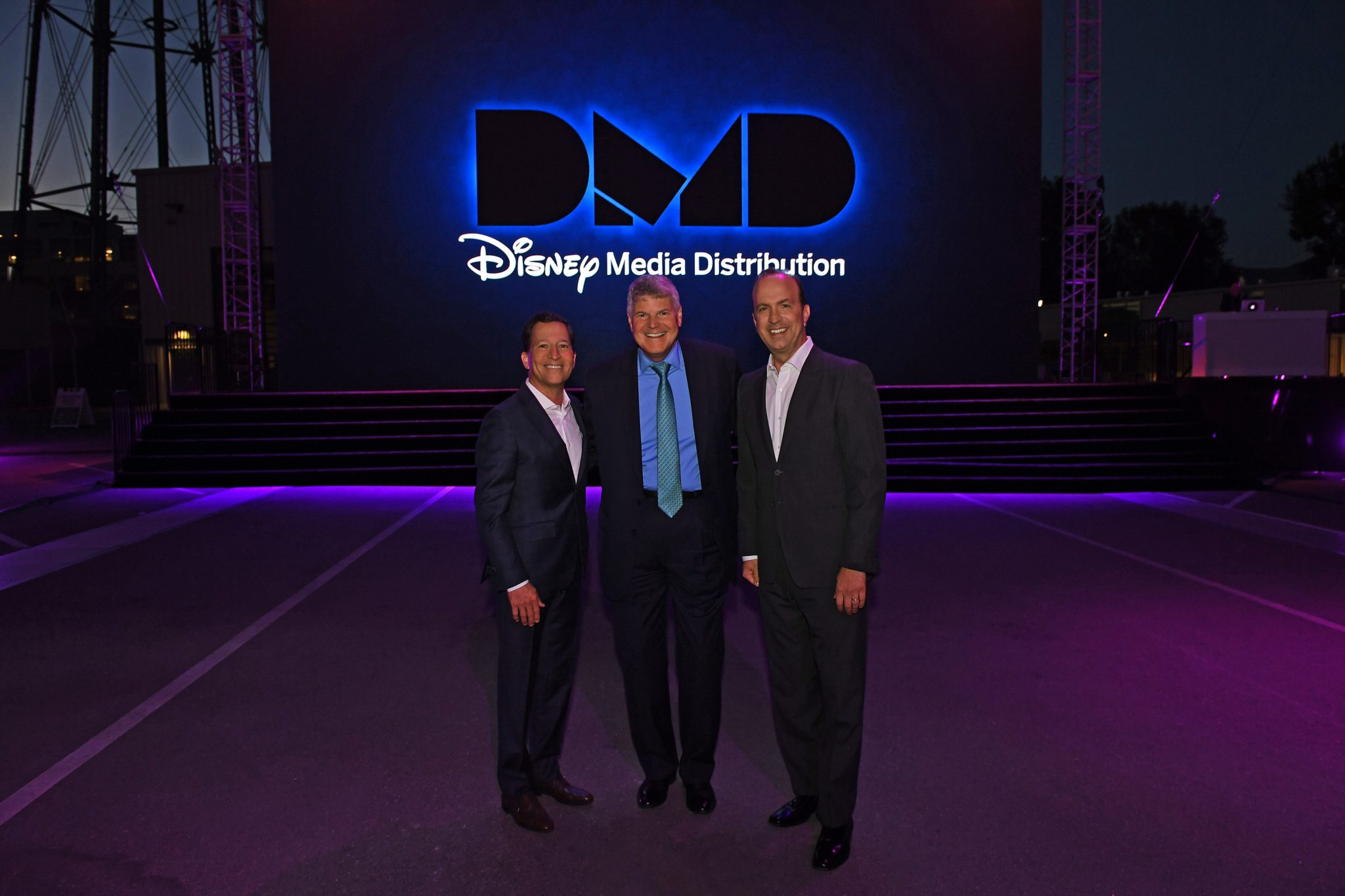 Disney/ABC Television Group president of business operations Bruce Rosenblum; Disney Media Distribution president of global sales Ben Pyne; and Disney Media Networks president co-chairman and DIsney/ABC Television Group president Ben Sherwood at th Disney International Upfront (Photo credit: Disney/Mitch Haddad)