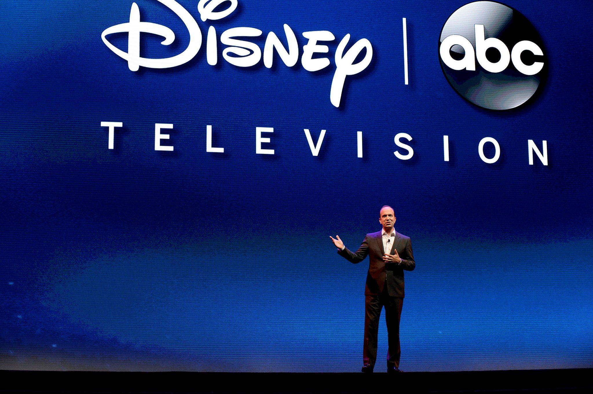 Ben Sherwood presents at the Disney International Upfront (Phot credit: Disney/Mitch Haddad)
