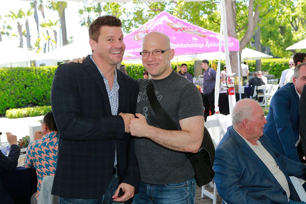 David Boreanuz and writer Ben Cavell of SEAL Team at the CBS LA Screenings