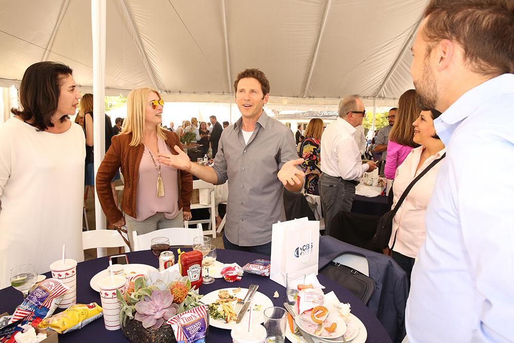 Mark Feuerstein (9JKL) entertains buyers at a CBS Screening