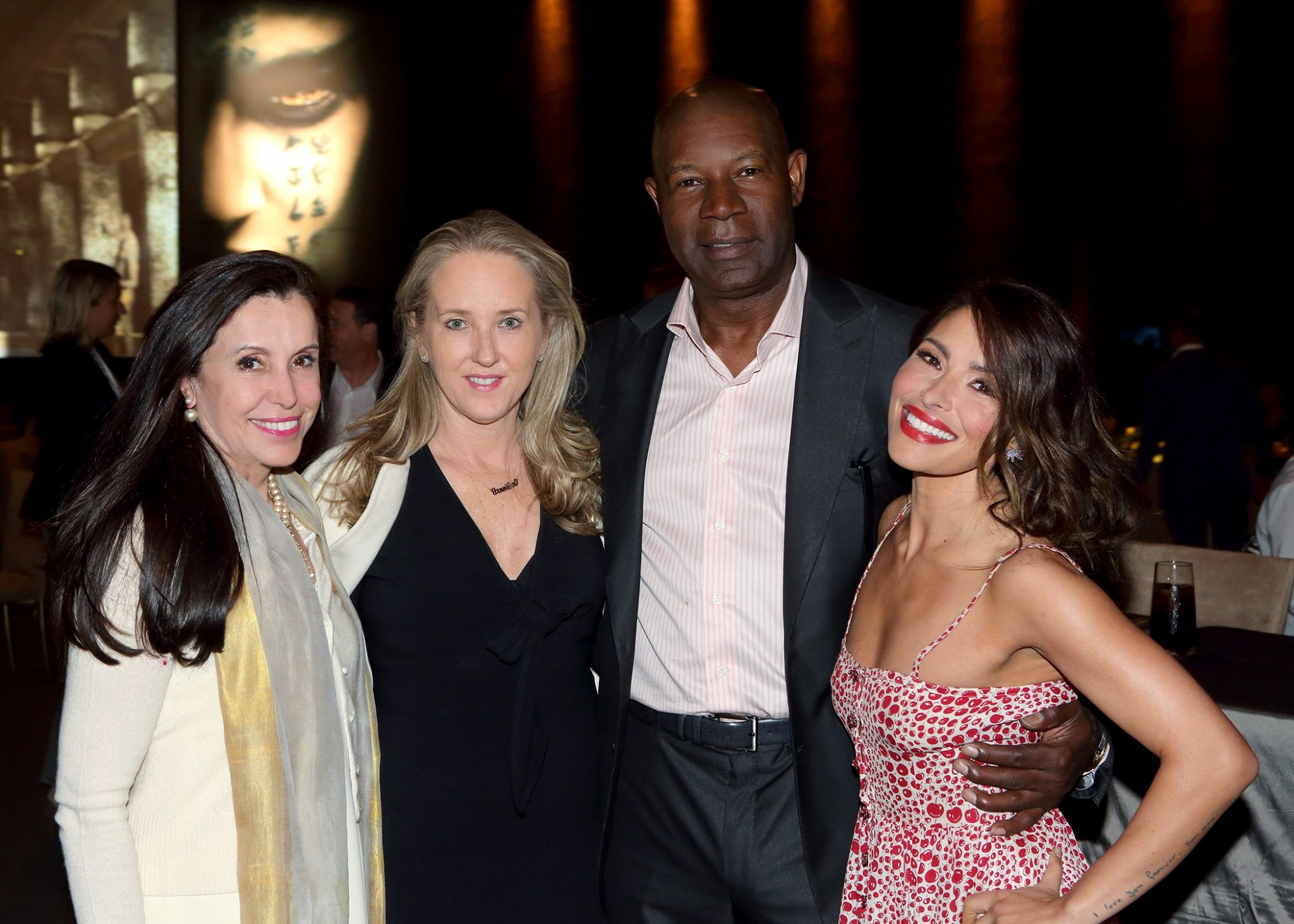 (L-R) NBCUniversal International Distribution & Networks president Belinda Menendez; NBC Entertainment president Jennifer Salke; Dennis Haysbert (Reverie) and Sarah Shahi (Reverie) attend NBCU's LA Screenings luncheon on the Universal lot on Thursday, May 25 (Craig T. Mathew/Mathew Imaging)